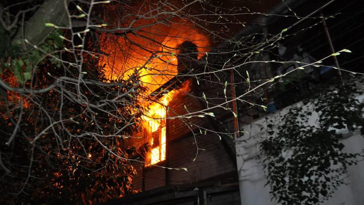 An der Tannwaldstrasse in Olten brannte es in der Nacht auf Samstag.
