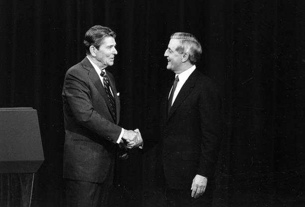 Ronald Reagan und Walter Mondale.