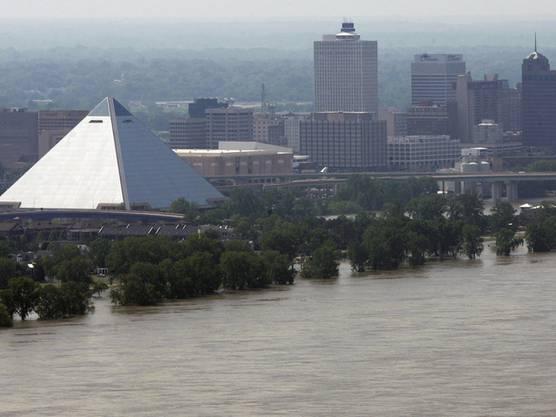 Memphis vom Hochwasser bedroht