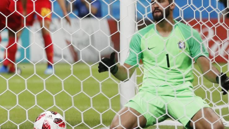 Brasiliens Torhüter Alisson steht vor dem Wechsel nach Liverpool