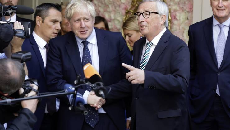 Der britische Premier Boris Johnson und EU-Kommissionspräsident Jean-Claude Juncker in Luxemburg.