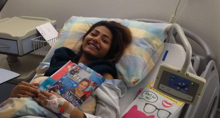 Tina Umbricht im Spital.