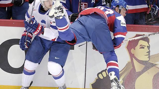 Duell zwischen Brian Henderson (l.) und dem Slowaken Tomas Tatar.