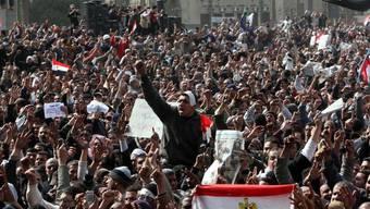 Freitags-Proteste gegen Ägyptens Präsident Mubarak
