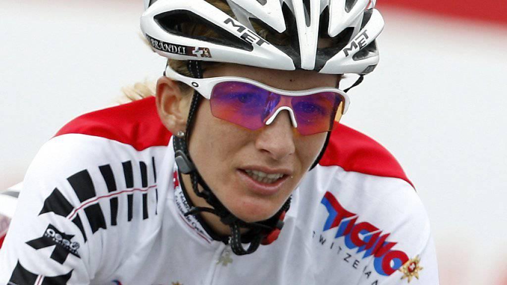 Nicole Brändli in ihrem letzten WM-Rennen, 2009 in Mendrisio