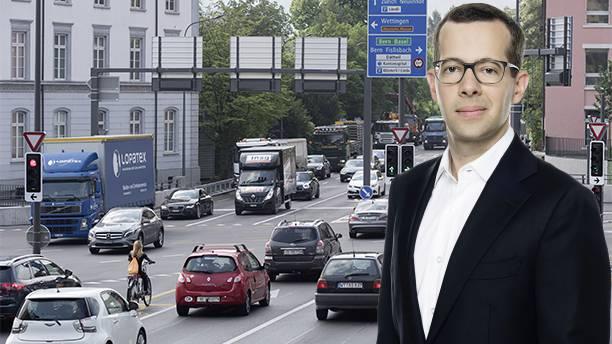 Das Reglement der Stadt zur Mobilität der Zukunft sei unausgereift, so die FDP (im Bild Stadtpartei-Co-Präsident Tobias Auer).