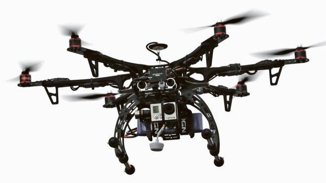 Könnte eine Kamera tragen oder auch Waffen: Mini-Drohne. Foto: Rick Bowmer/KEYSTONE