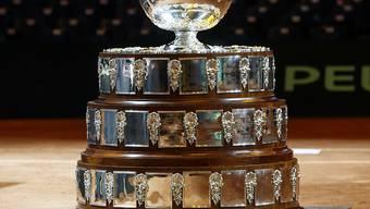 Das Objekt der Begierde am letzten November-Wochenende: die Davis-Cup-Trophäe
