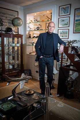 In diesem Zimmer sammelt Bertrand Piccard Erinnerungen an Vater und Grossvater.