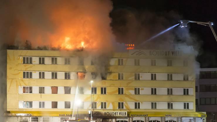 15 Millionen Franken Sacchschaden: der Brand des Posthotels in Arosa war der zweitgrösste in der 100-jährigen Geschichte der Bündner Gebäudeversicherung.