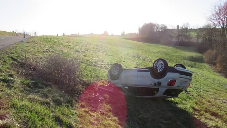 Hier blieb das Auto liegen.