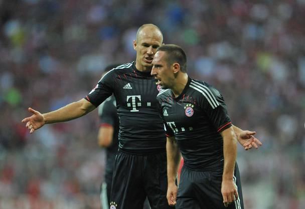 Arjen Robben (links) und Franck Ribéry bildeten jahrelang die gefürchtete Flügelzange beim FC Bayern München.