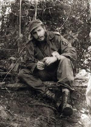 Fidel Castro: Ein Bild aus Revolutionstagen.