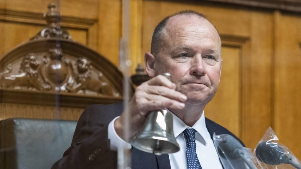 Nationalratspräsident Andreas Aebi gab per Stichentscheid den Ausschlag.