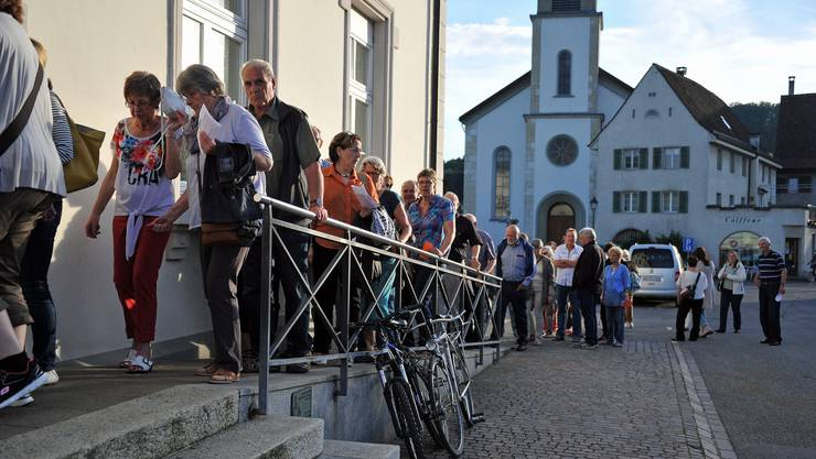 Grossandrang zur Versammlung der reformierten Kirchgemeinde Erlinsbach SO. (Archiv)