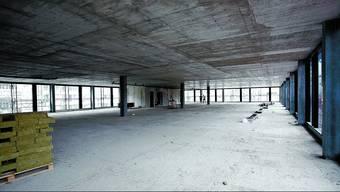 Riesig: Der Blick in eines der Obergeschosse, wo zum Teil noch enorme Flächen zu haben sind. Felix Gerber