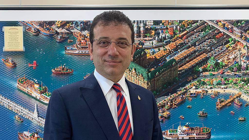 Der Istanbuler Bürgermeister und Oppositionspolitiker Ekrem Imamoglu. Sein Wahlsieg 2019 war auch ein Denkzettel für Präsident Erdogan.