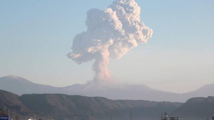 In Japan ist der Vulkan Shinmoe ausgebrochen. (Archivbild)