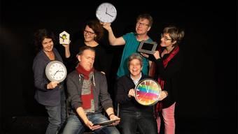 Stehend von links: Sibilla Scognamiglio, Michelle Uhlmann, Köbi Knüsel, Corinne Wyss; sitzend von links: Patrick Fischer, Ursi Sydler.