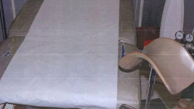 In diesem Raum soll der US-Arzt Kermit Gosnell illegale Abtreibungen vorgenommen haben