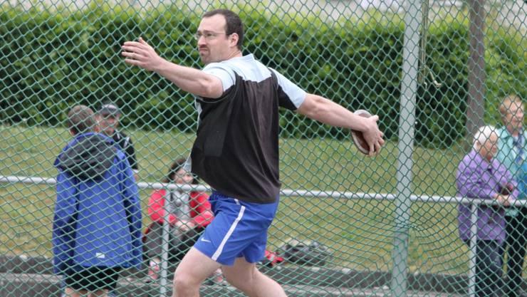 Der Oltner Stefan Grob gewann mit dem Diskus und der Kugel.