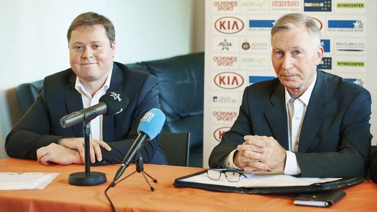 Der künftige FCA-Präsident Philipp Bonorand (l.) führt den Verein bis zur nächsten GV noch ad interim.