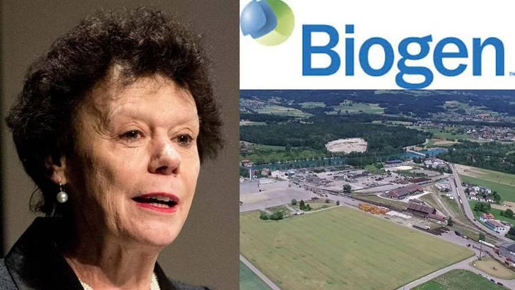 Regierungsrätin Esther Gassler sieht die Biogen-Ansiedlung als Sechser im Lotto.
