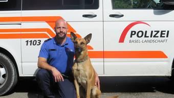Gut gemacht Spyke! Der Baselbieter Polizeihund findet einen Verdächtigen.