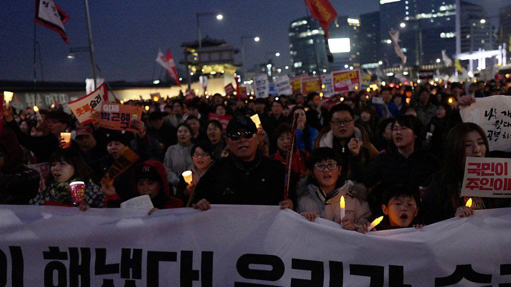 Kundgebung in Südkoreas Hauptstadt Seoul