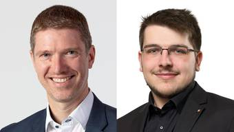 Joel Blunier (46, EVP) und Samuel Hasler (23,SVP) kandidieren wieder für den Buchser Gemeinderat.