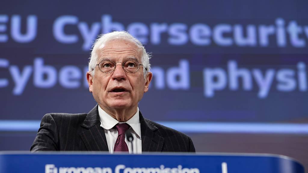 Der Außenbeauftragte der EU, Josep Borrell, ist angesichts der Ausschreitungen in Washington besorgt. Foto: Kenzo Tribouillard/AFP Pool/AP/dpa