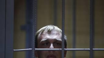 Iwan Golunow am 8. Juni vor Gericht.