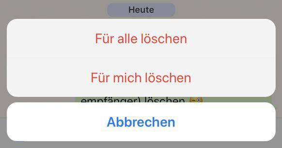 whatsapp löschen