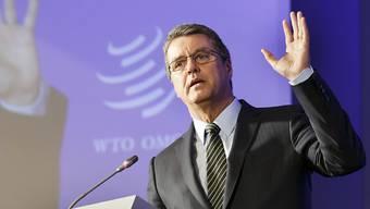WTO-Generaldirektor Roberto Azevedo präsentierte am Mittwoch die zwei letzten benötigten Ratifikationen, damit das Abkommen über Handelserleichterungen in Kraft treten kann. Das Abkommen ist ein Meilenstein für die Welthandelsorganisation. (Archiv)