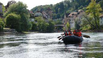 Schlauchbootfahrten auf den grossen Aargauer Flüssen