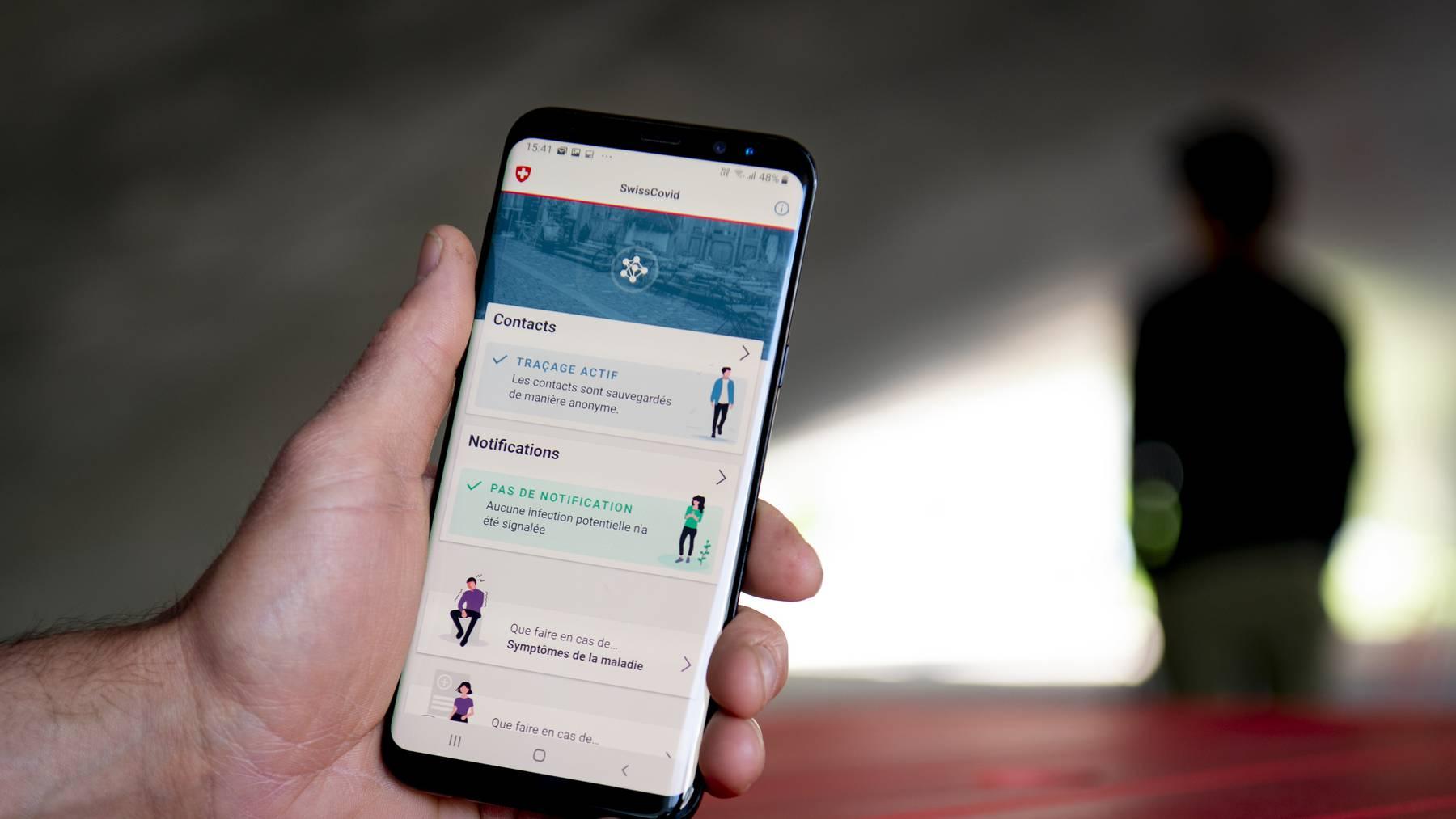 Soll möglichst mit Apps anderer Länder funktionieren: Die von der ETH und EPFL im Auftrag des Bundes entwickelte Contact-Tracing-App Swiss Covid.