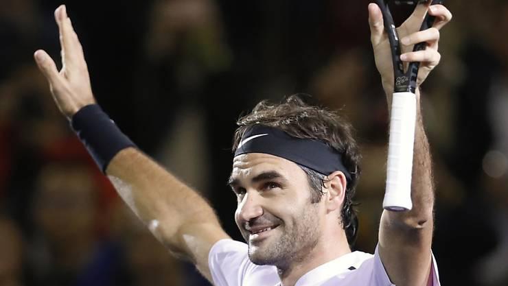 Roger Federer gelingt bei den Swiss Indoors ein 6:1, 6:3 gegen Tiafoe