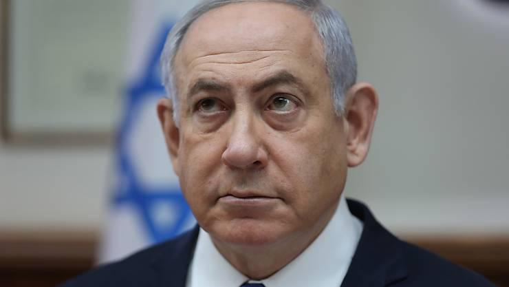 Israels Oberstes Gericht hat es abgelehnt, über den wegen Korruption angeklagten Regierungschef Netanjahu zu urteilen. Es nahm einen Antrag mehrerer Juristen des Landes nicht an. (Archivbild)