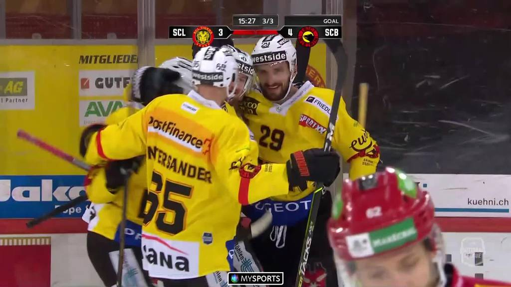Knappe Entscheidung im Derby SCB vs. SCL Tigers