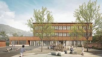 So soll das neue Schulhaus Goldiland aussehen. Kosten: 11,4 Millionen Franken - und nicht 10,4 Millionen Franken, wie es auf dem Stimmzettel heisst.