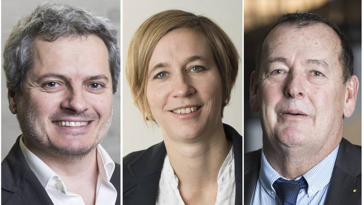 Die neuen Einwohnerratspräsidenten der Region: Christian Keller (Grüne), Karin Bächli (SP) und Hansjörg Huser (SVP).