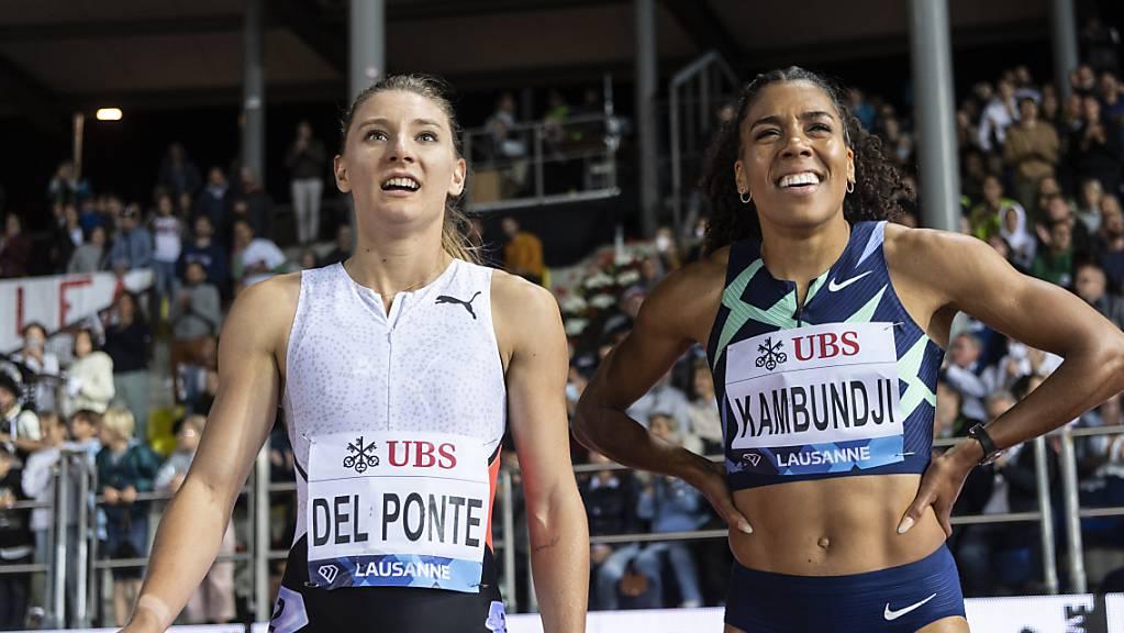 Ajla Del Ponte (links) and Mujinga Kambundji überzeugten auch in Lausanne.