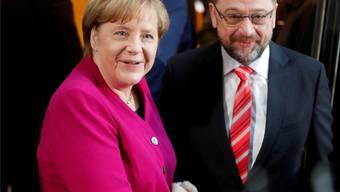 Kanzlerin Angela Merkel und SPD-Chef Martin Schulz.