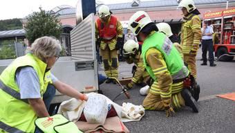 Voller Einsatz: Feuerwehr Brugg zeigt an Hauptübung ihr Können