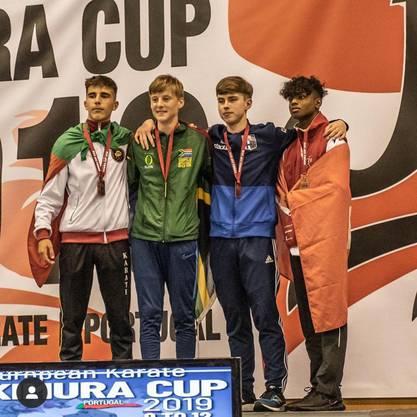 Naveen Jegatheswaran Bronze für Schweiz.  Super Leistung für das junge Talent aus de Dojo Karate Limmattal