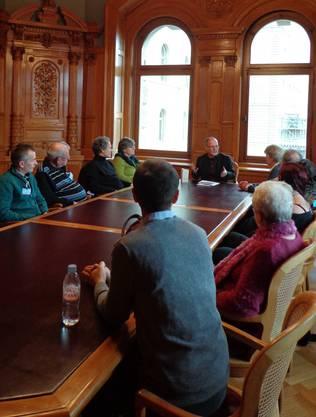 Fragerunde mit Nationalrat Max Chopard-Acklin anlässlich des Besuches im Bundeshaus