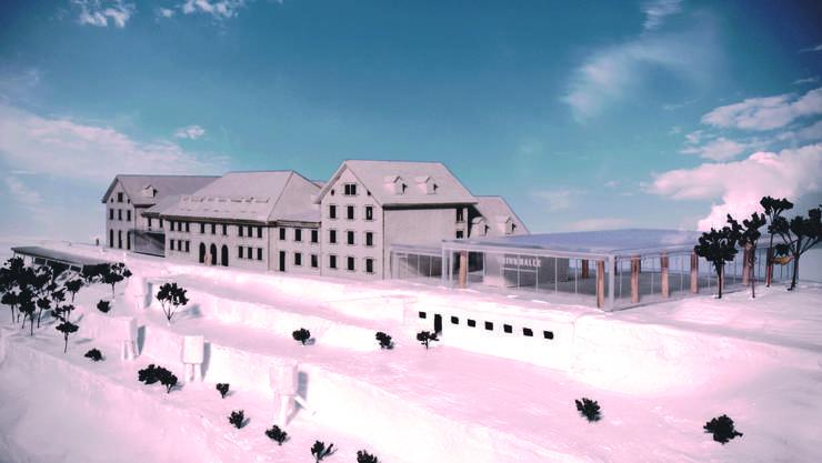 Im März 2016 werden die neuen Pläne fürs Kurhaus Weissenstein vorgestellt. So soll das Kurhaus aussehen.