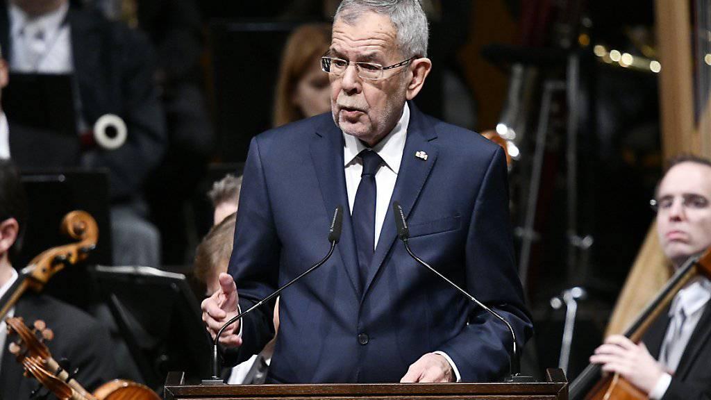 Bundespräsident Alexander Van der Bellen sprach den Österreichern im Rahmen eines Staatsaktes zu «100 Jahre Republik Österreich» ins Gewissen.