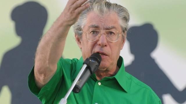Lega-Chef Umberto Bossi: Explosion ereignete sich in der Nähe seines Hauses (Archiv)