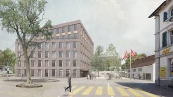 Visualisierung neue Gemeindeverwaltung Oberwil